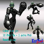 Cyber girl - pictures set