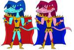 Zagon and Zarria (Reptilian Form)