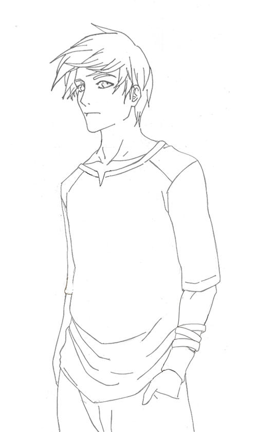 Lineart Anime Boy : Random guy lineart by thecondiment on deviantart
