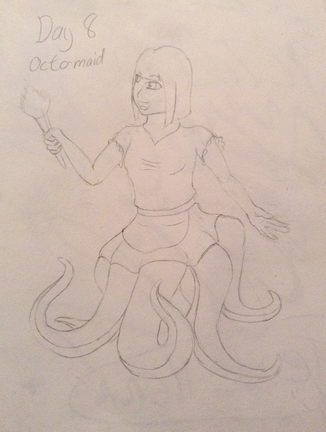 30 Days- Day 8 Octomaid by Demon-Outcast