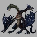 Necromancer dragon by badfatdragon