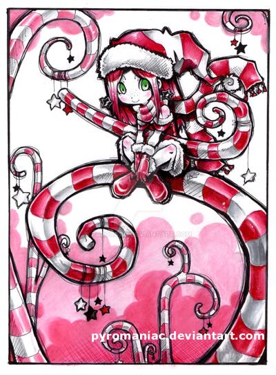 Candy cane spirit by Parororo
