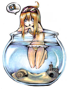 Girl in a fishbowl