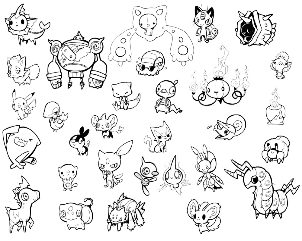 duskull pokemon coloring pages - photo#30