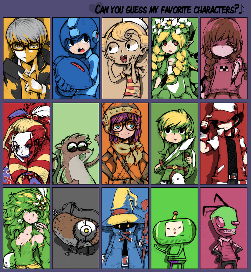 R O D Anime Characters : Favorite characters meme by parororo on deviantart