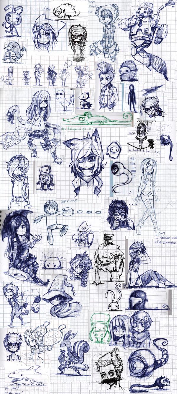 Class sketches 2012 - 2 by Parororo
