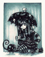New friends in the rain by Parororo