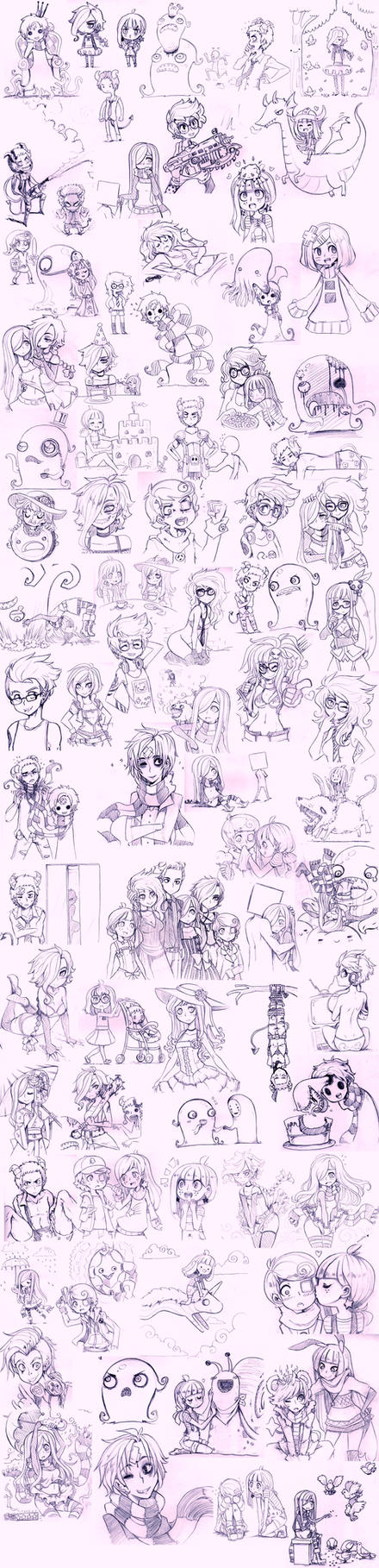 Super OC sketch dump 2 by Parororo