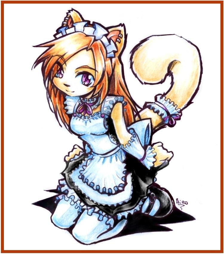 Maid kitty Mega CLICHe by Parororo