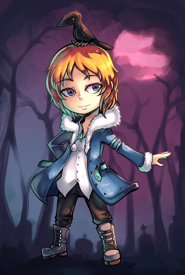 Vampire guy commission by Parororo
