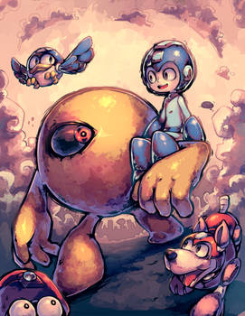 Mega Man and friends