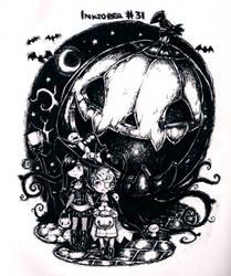 Last spooky day of Inktober by Parororo