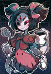 Muffet Pours you a cup of Spiders