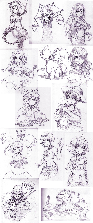 May Patreon Sketch batch by Parororo