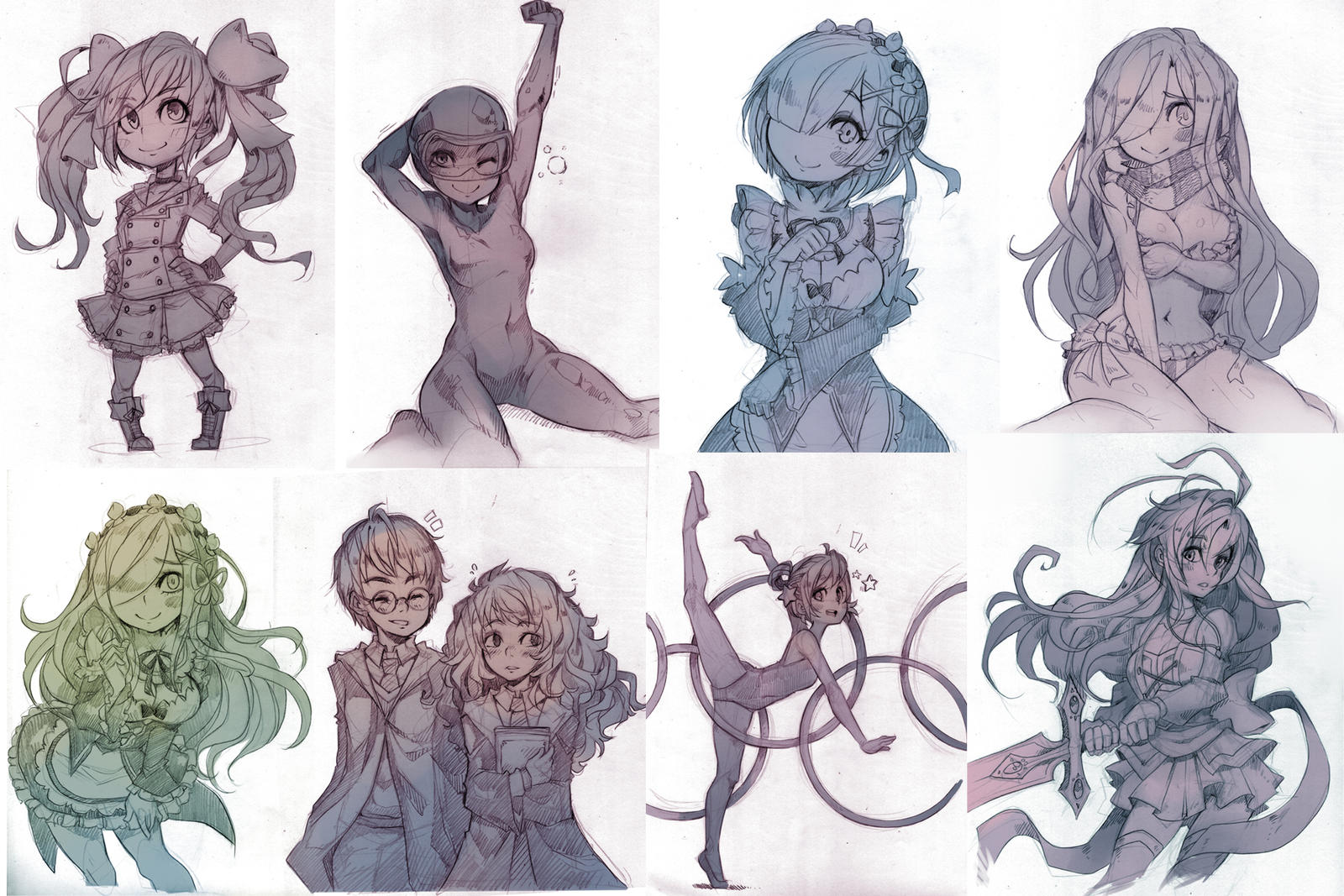 More Patreon Sketches by Parororo