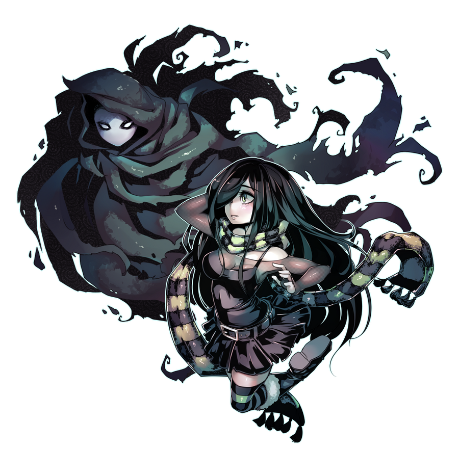 Aria and the Ghost commission by Parororo