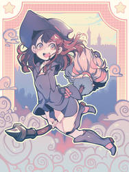 Akko - Little Witch Academia by Parororo