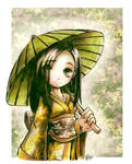 Lemon Tea Parasol by Parororo