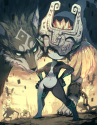 Wolf Link and Midna