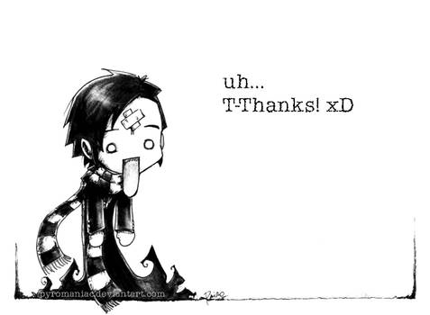 A 'Thank you' picture