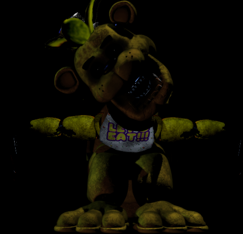 Golden Freddy Withered Chica Hybrid Commission By Abuut To Die 2