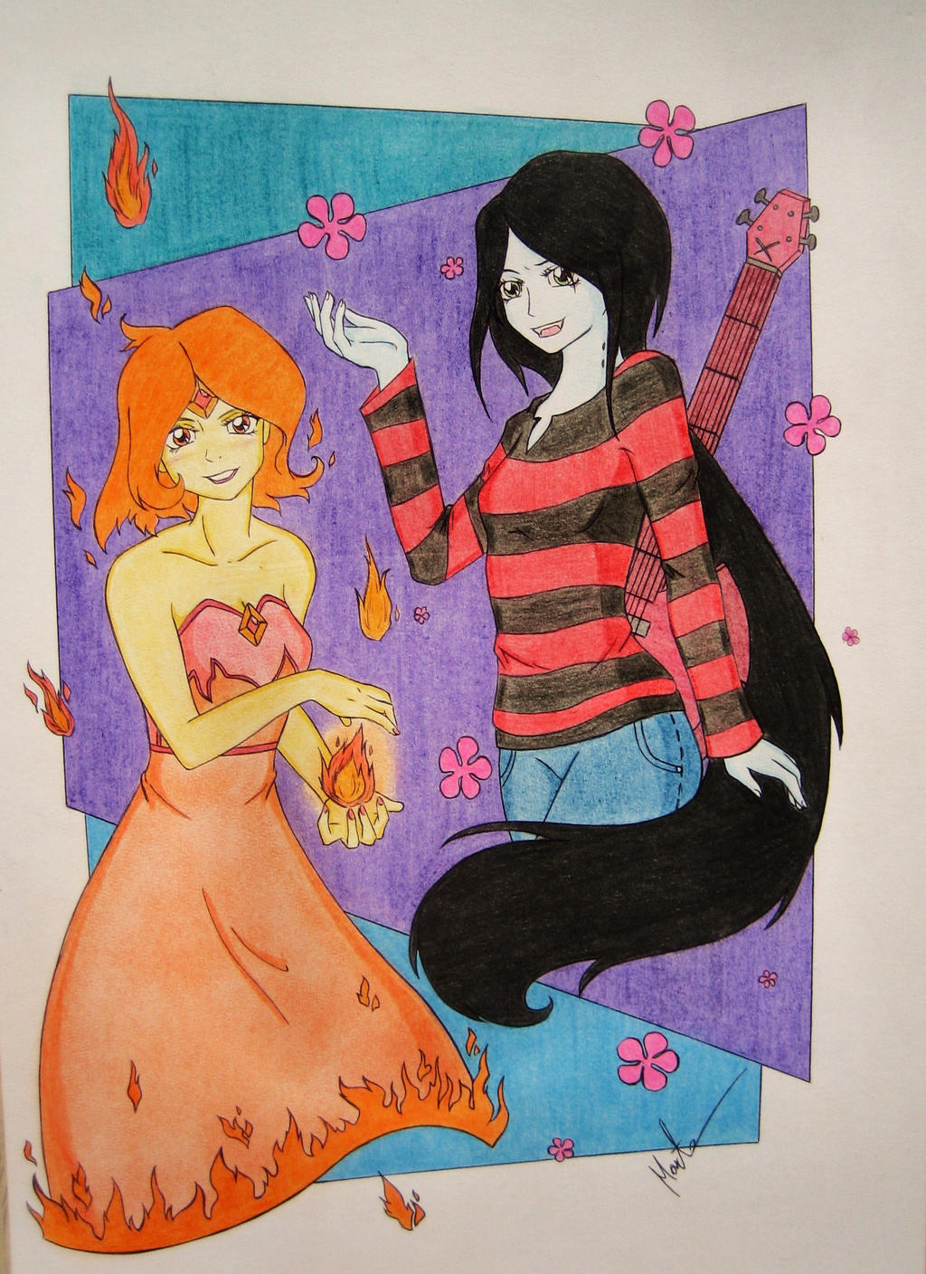 Phoebe and Marceline by Natsu-chan-94
