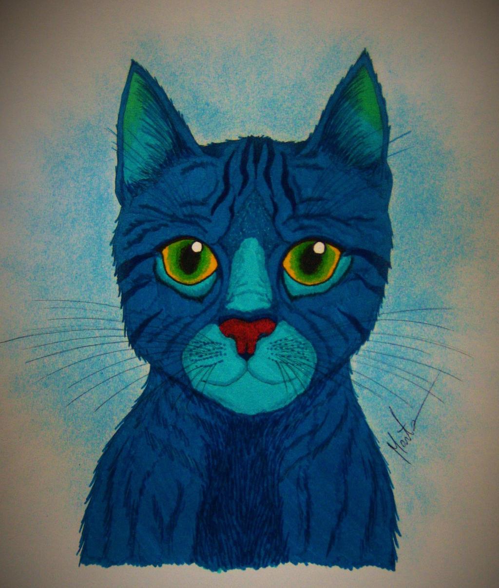 Blue Cat by Natsu-chan-94