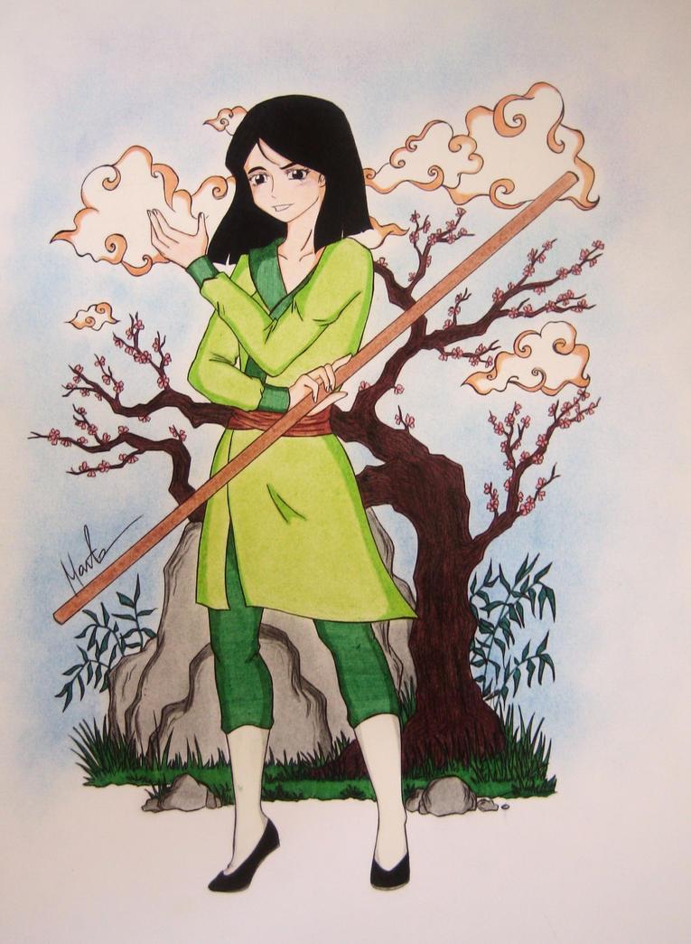 Mulan #1 (coloured) by Natsu-chan-94