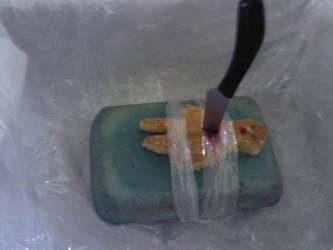 Dexter kills gingerbread man by googilyMcrandom