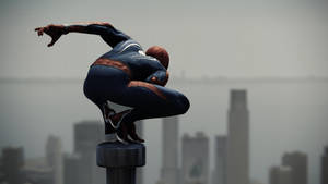 Epic Spidey Pose 2.(Spider-Man PS4)