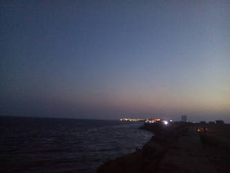 evening in the sea