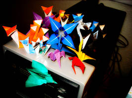 origami display by afrokenshi