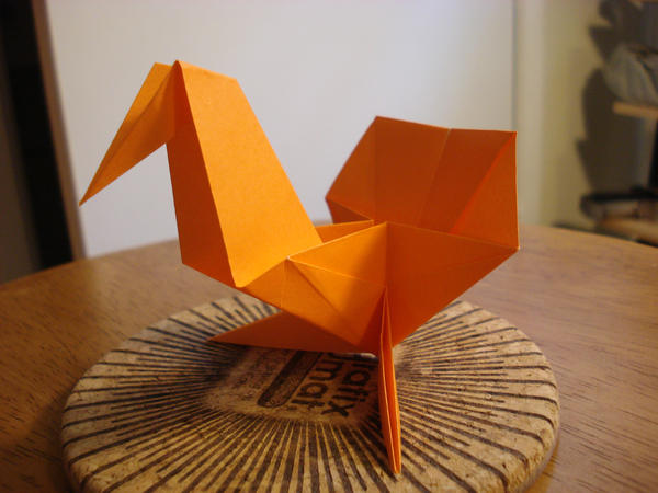 origami turkey by afrokenshi on deviantart