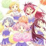 Puella Magi Holy Quintet Cheerleaders