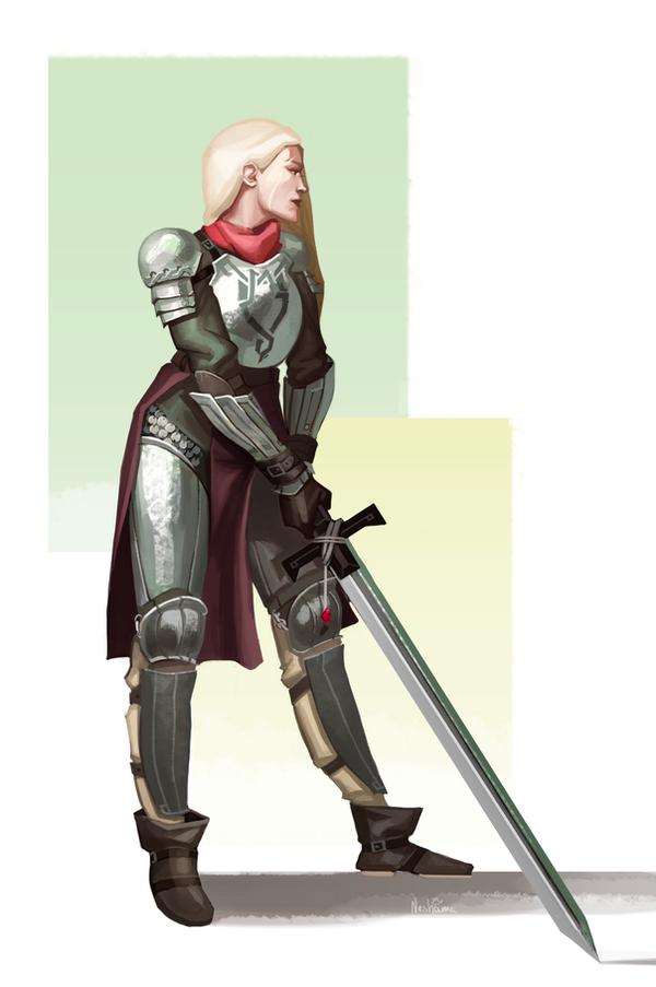 Mercenary swordsman by kleineHerz