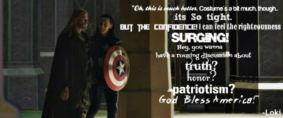 Thor And Loki As Captain America Quote Facebook By AWishInTheNight