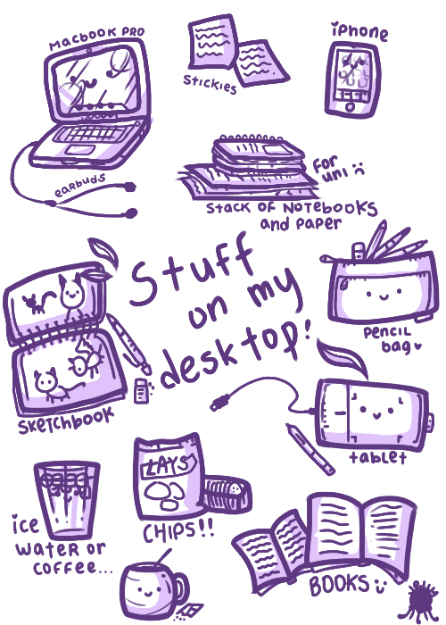 Stuff on my desktop by nightIights