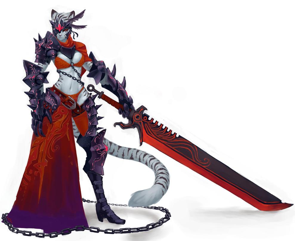Black Knight Tigress Final by luigiix on DeviantArt