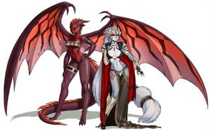 Cerinia Puzzle: Queen and servant by luigiix