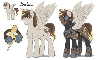 [Comm] Solace - Steampunk pony
