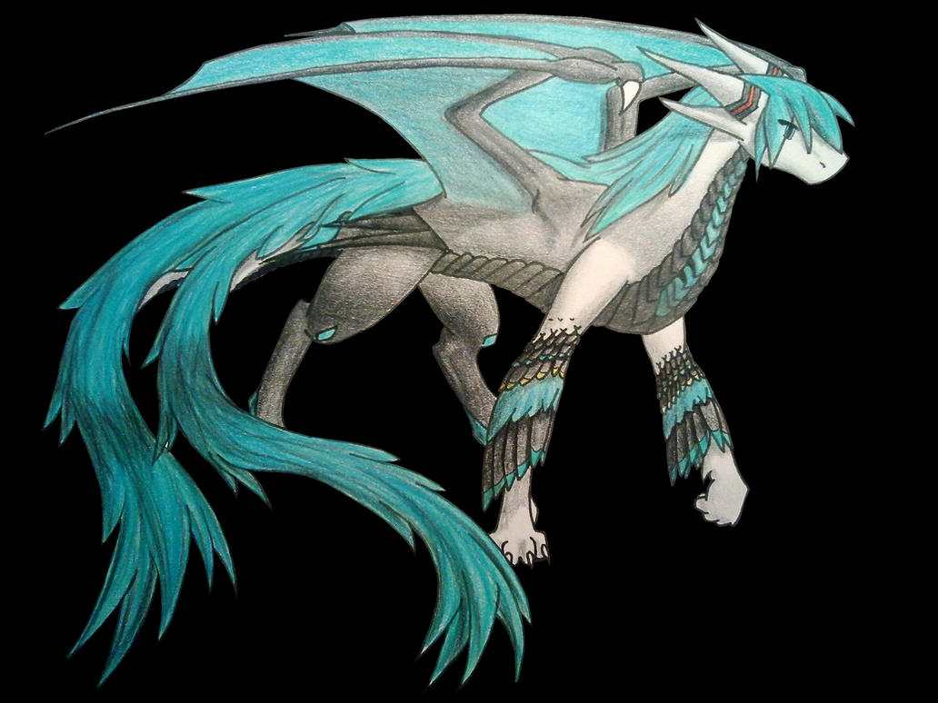 Dragon Miku by IdrewAcow