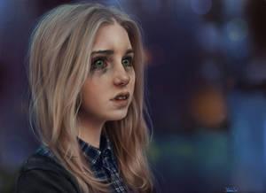 crying girl by ElenaSai