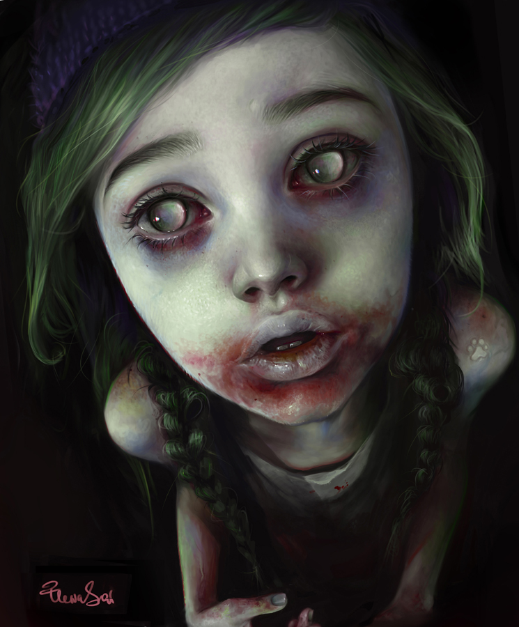 Zombie Girl Art