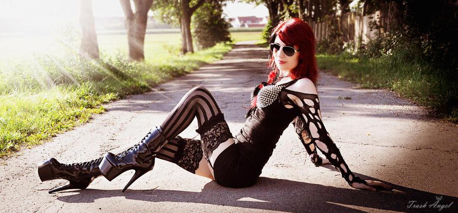 Sitting in the Sun by TrashAngel
