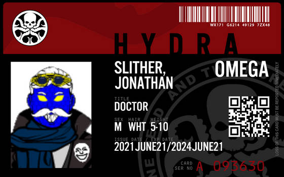 Dr. Slither's Hydra ID Card