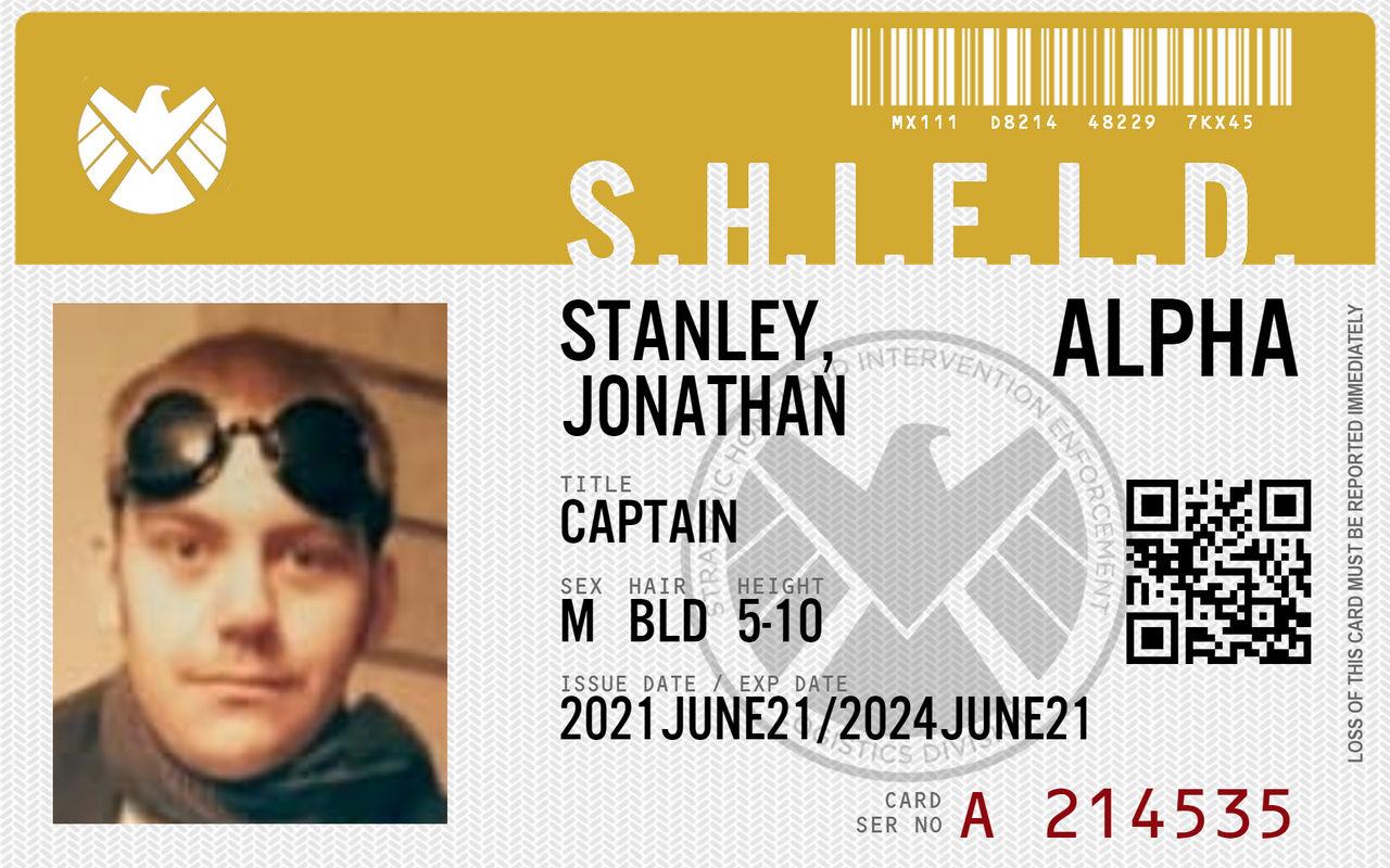 Captain Stanley's S.H.I.E.L.D ID Card