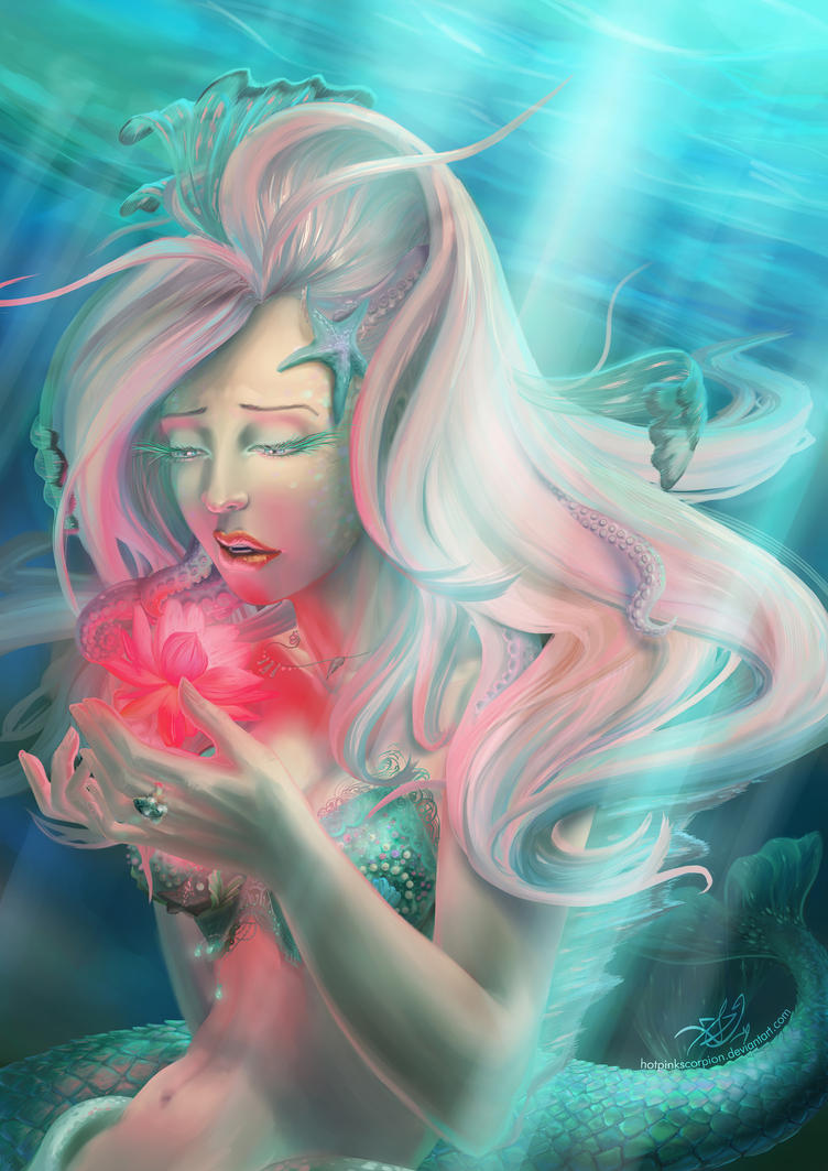Mermaid - Coral by hotpinkscorpion