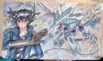 collab- my yugioh 5Ds playmat by slifertheskydragon