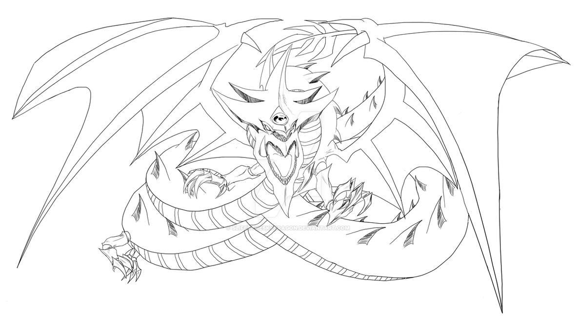 Slifer The Sky Dragon Lineart By Slifertheskydragon On