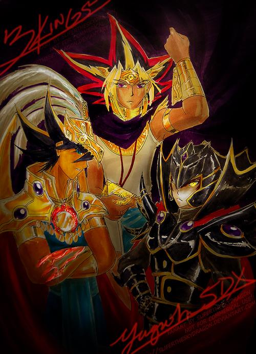 Three Kings of Yugioh by slifertheskydragon